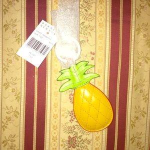 NWT Barneys NY Pineapple Key Ring/Purse Charm